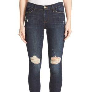 Frame Denim Le Skinny de Jeanne Dark Jeans DG